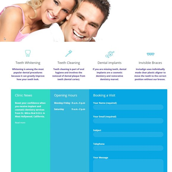 Dental Website Design BeverlyHillsSmileCare.com