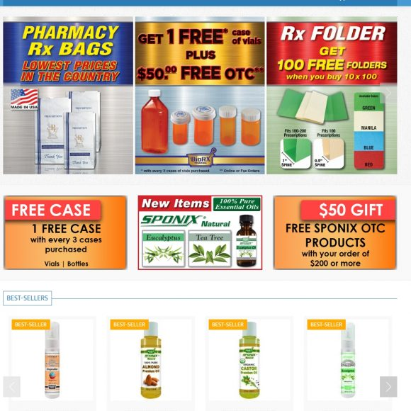 Pharmaceutical Website Design Biorxlabs.com
