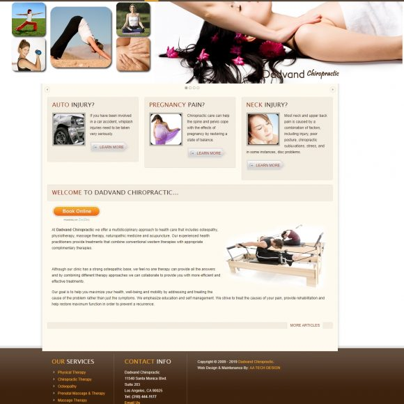 Chiropractic & Massage Therapist Website DadvandChiropractic.com