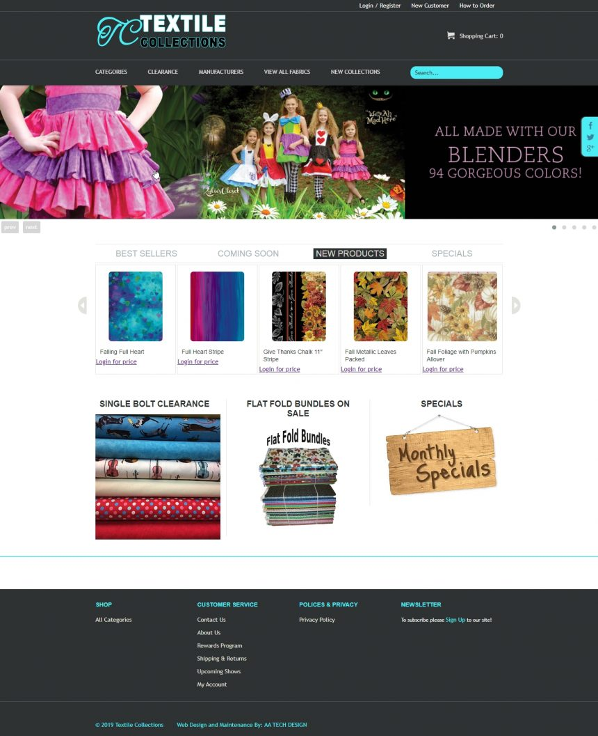 Fabric Retail Website Fabric4Less.com