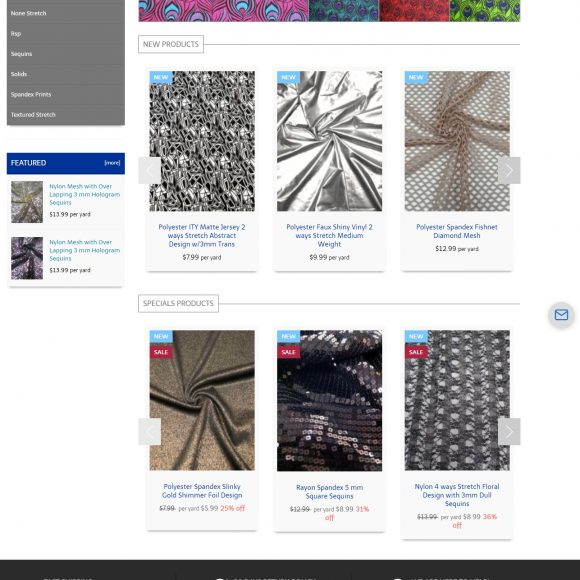 Fabric Retail Website FabricForUs.com