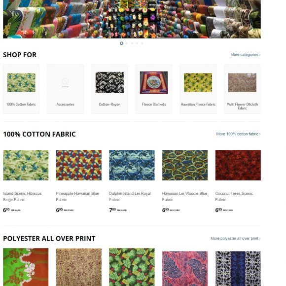 Fabric Retail Website IslandsFabric.com